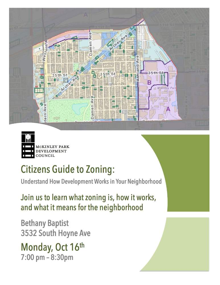 Citizens Guide To Zoning in McKinley Park flyer