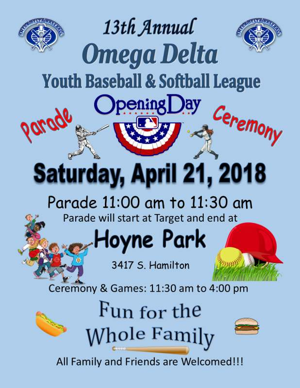 Omega Delta Baseball Opening Day Parade Flyer forweb