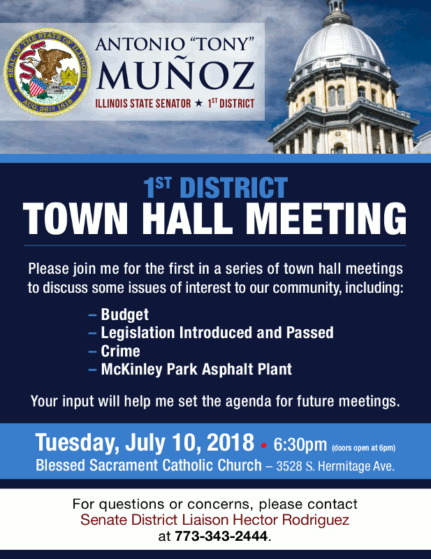 Antonio Munoz Town Hall Meeting 20180710 poster forweb