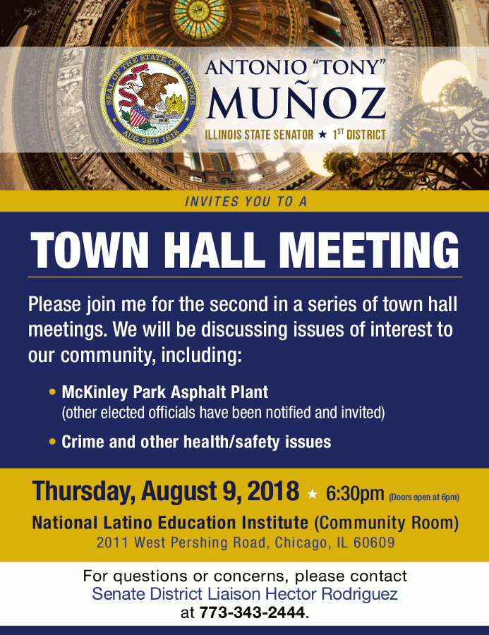1st District Town Hall Meeting 6 30 P M On Thurs Aug 9 2018