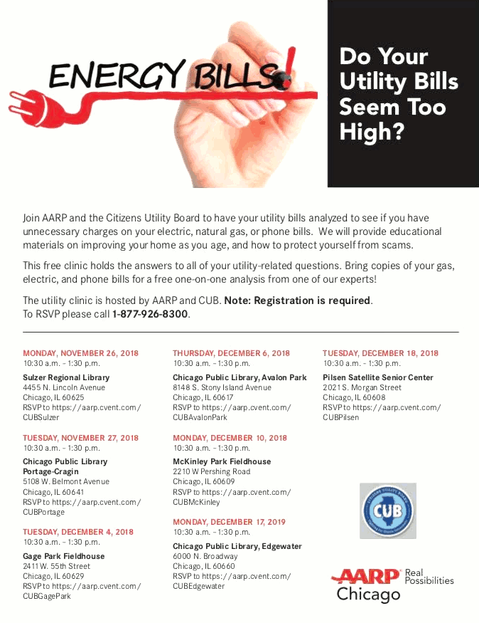 Utility Bill Clinic McKinley Park 20181210 poster forweb