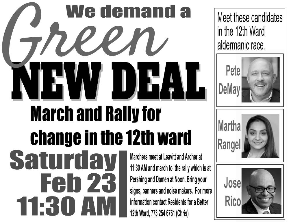 Green New Deal March Rally poster eng 20190223