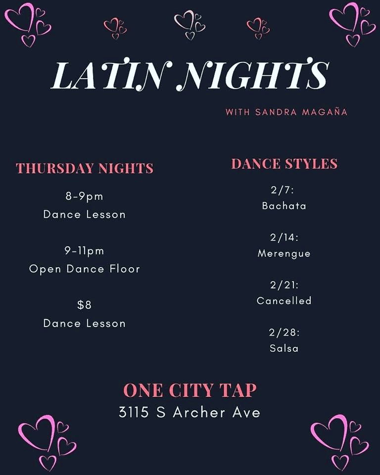 Latin Nights Sandra Magana One City Tap poster
