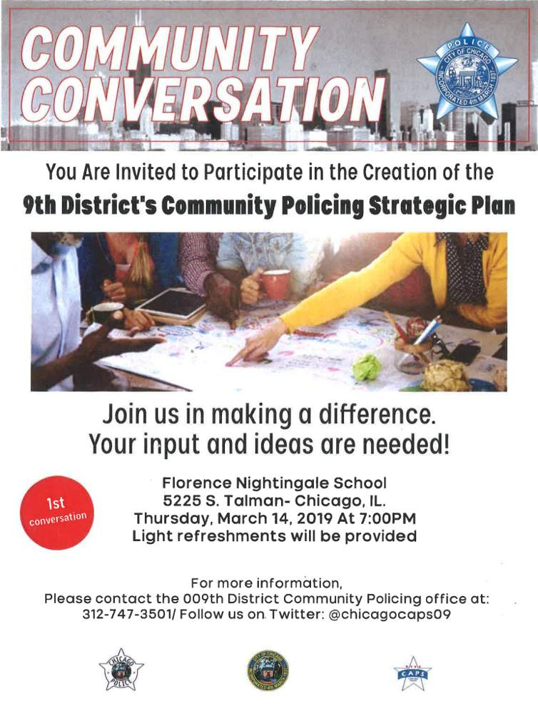 Chicago Police Department Strategic Plan Meeting poster 20190314