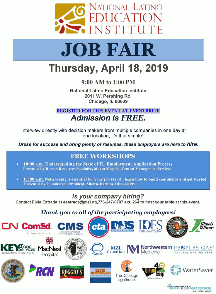 National Latino Education Institute job fair 20190418 poster forweb