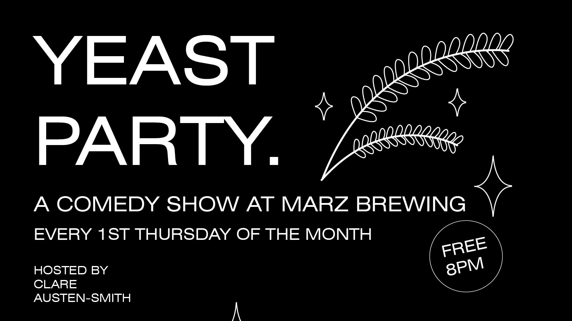 Yeast Party Comedy Night poster 201904