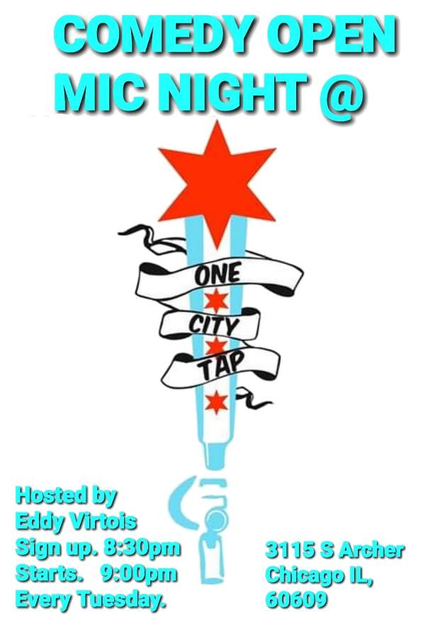 One City Tap Stand Up Comedy Open Mic poster forweb