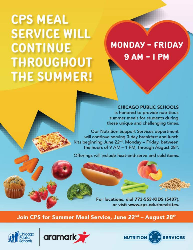 Chicago Public Schools Grab n Go Meal Sites poster