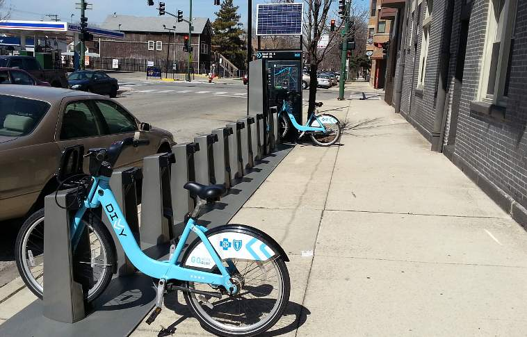 One of McKinley Park's existing Divvy stations is at 35th and Wood.