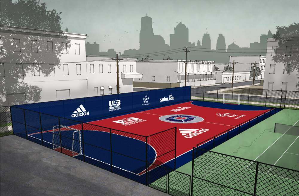 Artist's conception of the Chicago Fire mini soccer field