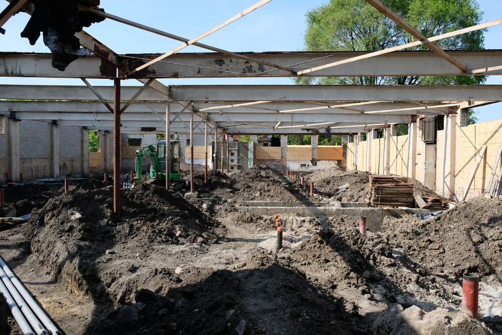 Montessori Foundations of Chicago new school interior under construction