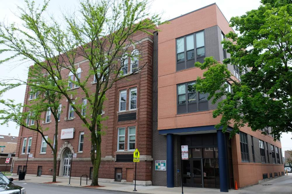 Namaste Charter School at 3737 S. Paulina St., Chicago, is the site of recent unionization efforts by teachers and staff.