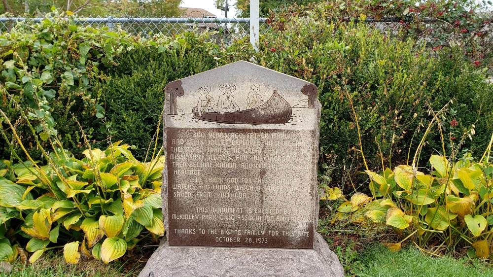 The Marquette-Joliet marker at South Archer Avenue and South Leavitt Street memorializes one of the many historic events that took place in the McKinley Park neighborhood.