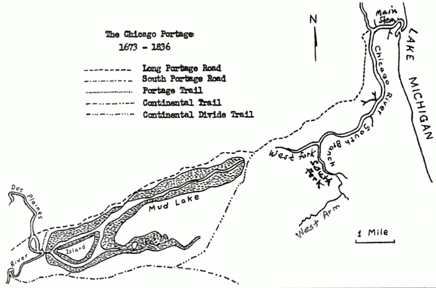 Bubbly Creek Chicago Portage Historic Map