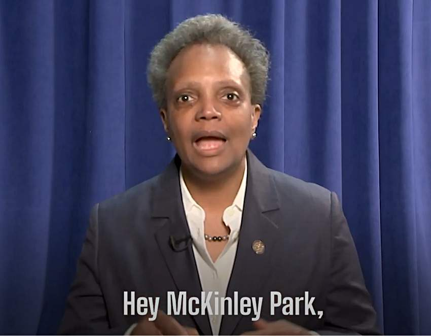 Chicago Mayor Lori Lightfoot speaks directly to the McKinley Park neighborhood about the importance of replying to the U.S. Census in an online video posted on Tuesday, April 28, 2020.