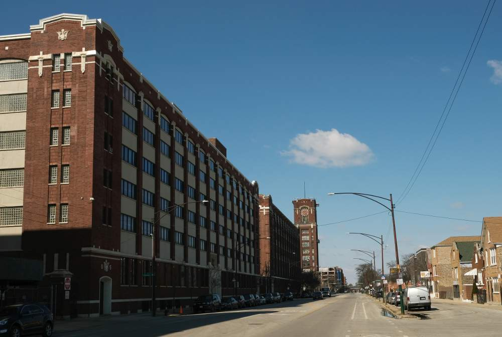 The City of Chicago office building on Pershing Road in the Central Manufacturing District is the focus of a news investigation by CBS 2 Chicago.