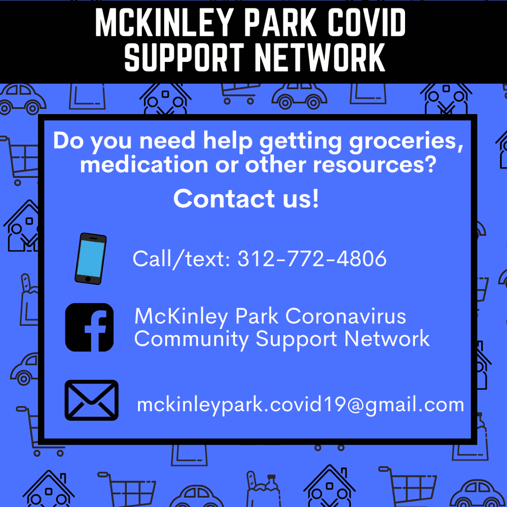 McKinley Park COVID Support Network poster
