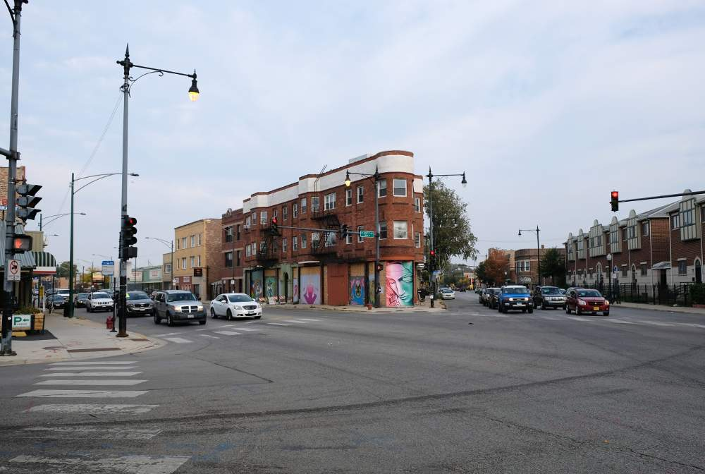 Rehab of the flatiron building at 3473-77 S. Archer Ave. will be one of the projects under discussion at an October 14 virtual community meeting hosted by 12th Ward Alderman George Cardenas.