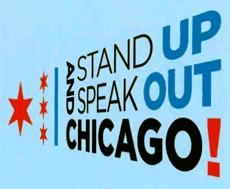 Stand Up and Speak Out Chicago logo