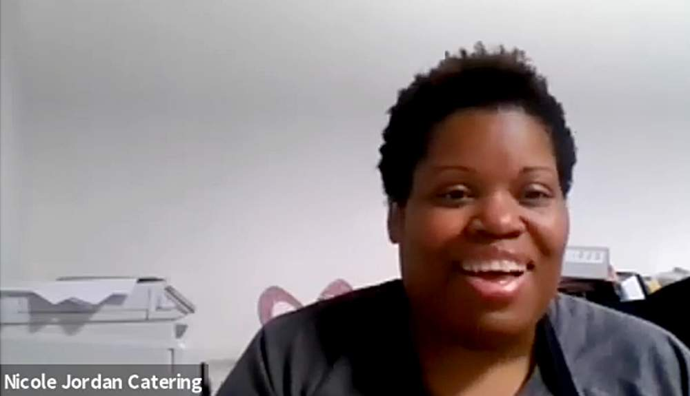 In a Chicago Treasurer's Office webcast from October 6, 2020, McKinley Park neighborhood caterer Nicole Jordan discusses how Chicago's business resiliency loan helped her small business weather the COVID-19 pandemic.