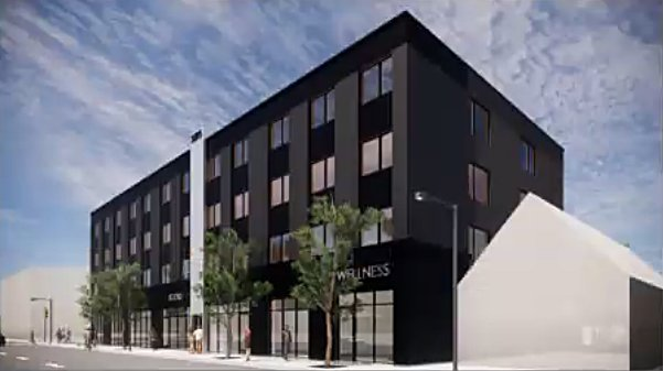 A recent rendering of the proposed development at 3595-99 S. Archer Ave. displays the four-story, mixed-use building design.