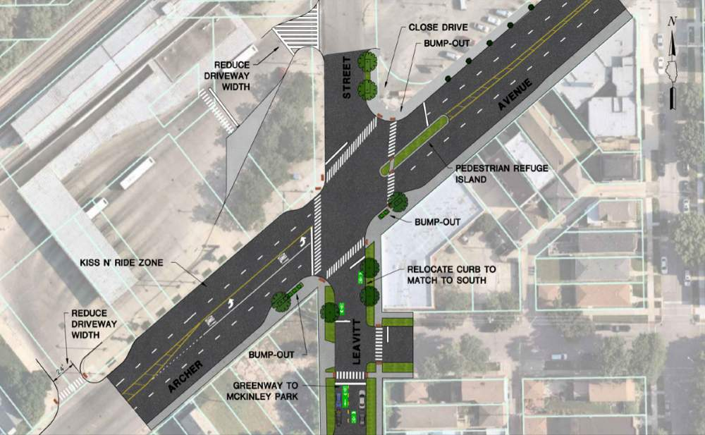 McKinley Park Neighborhood Plan Archer Avenue Leavitt Street intersection